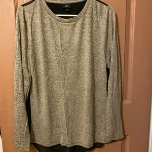 Two in one open back knit blouse
